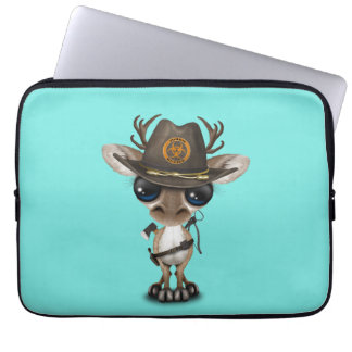 Baby Reindeer Zombie Hunter Laptop Sleeve