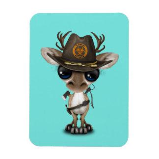 Baby Reindeer Zombie Hunter Magnet