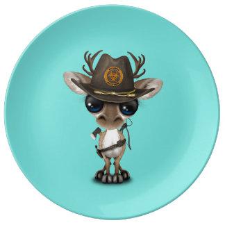 Baby Reindeer Zombie Hunter Plate
