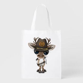 Baby Reindeer Zombie Hunter Reusable Grocery Bag