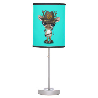Baby Reindeer Zombie Hunter Table Lamp