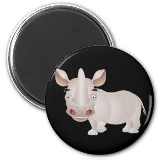 Baby Rhino 2 Inch Round Magnet