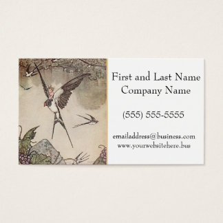 Baby Riding Sparrow, Andersen's Fairy Tales Business Card