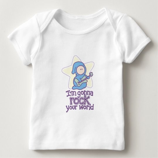 Baby Rock Star Rock Your World Baby T-Shirt