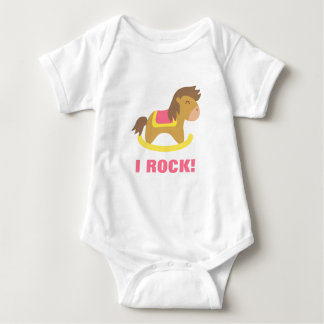 Baby Rocking Horse, I Rock, For Babies Baby Bodysuit