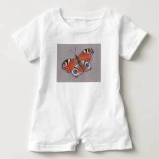 Baby Rom-pa with Peacock Butterfly Design Baby Romper