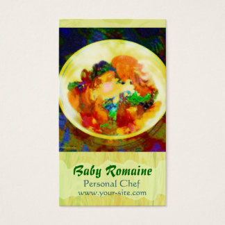 Baby Romaine Personal Chef Business Card