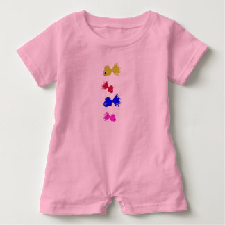 Baby Romper Fishes Pink