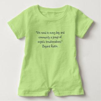 Baby Romper Rustin Quote