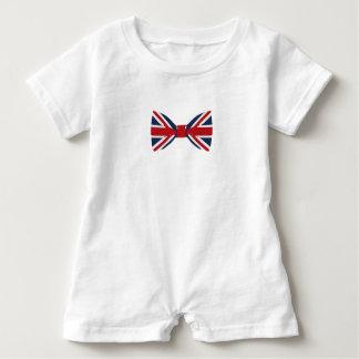 Baby Romper - Union Jack Bow Tie