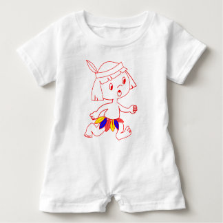 Baby Romper with cartoon Indian boy