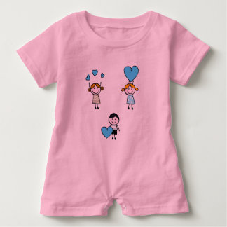 Baby Romper with DOODLE LOVE KIDS BLUE