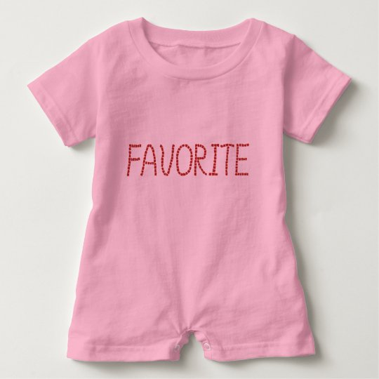 Baby romper with 'favourite'