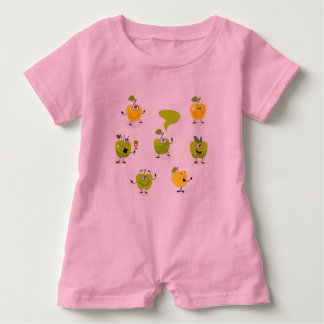 Baby Romper with green cute amazing Apples