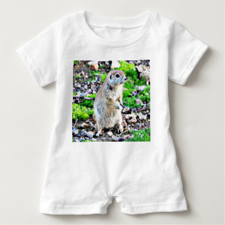 Baby Romper with Ground Squirrel
