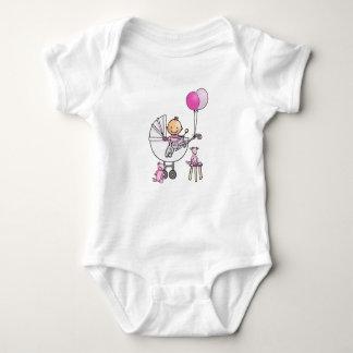 Baby rompertje with baby in pram baby bodysuit