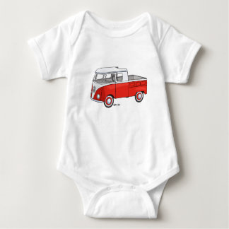 Baby rompertje with vintage pickup staircase car baby bodysuit
