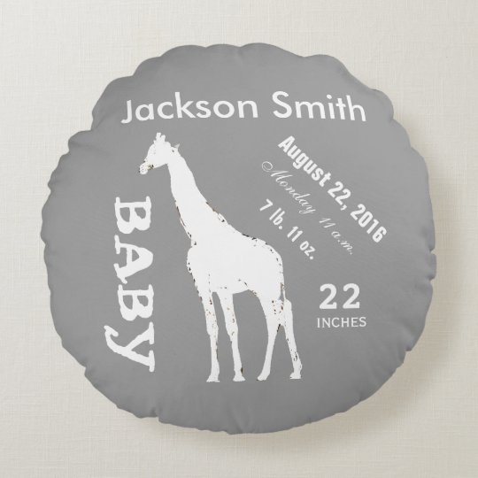 Baby Room Personalized Pillow Giraffe