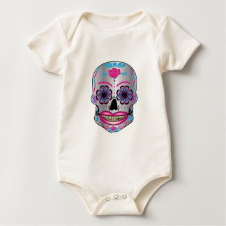 Baby Rose Candy Skull Onezie Baby Bodysuit