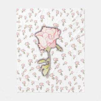Baby Rose Fleece Blanket