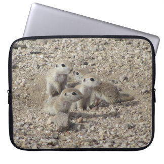 Baby Round-tailed Ground Squirrel Family Laptop Sleeve