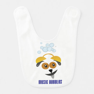 Baby rubber strips Music Bubbles with a sweet dog Bib