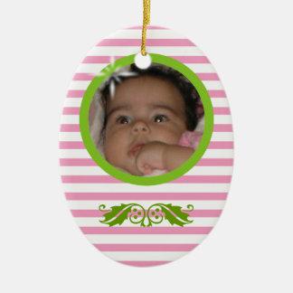 Baby's 1st Christmas Custom Ceramic Ornament