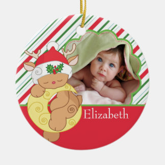 Baby s First Christmas Photo Ornament Deer