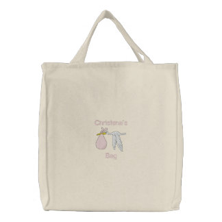 Baby s Things Embroidered Bag Pink