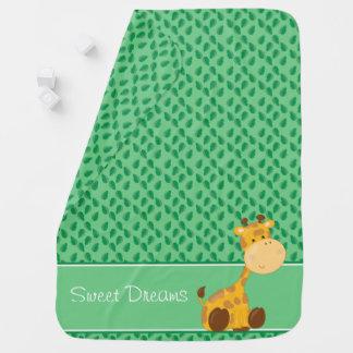 Baby Safari Animals   Giraffe   Personalized Stroller Blanket