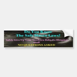 Baby Safe Haven Bumper Sticker