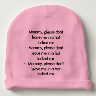 Baby safety reminder hat baby beanie