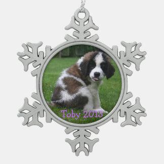 Baby Saint Bernart 2013 Ornament