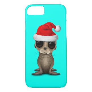 Baby Sea Lion Wearing a Santa Hat iPhone 8/7 Case