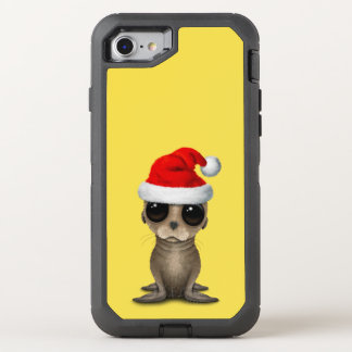 Baby Sea Lion Wearing a Santa Hat OtterBox Defender iPhone 8/7 Case