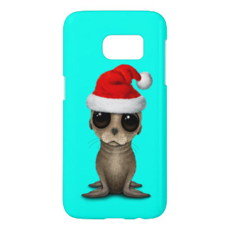 Baby Sea Lion Wearing a Santa Hat Samsung Galaxy S7 Case