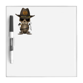 Baby Sea lion Zombie Hunter Dry Erase Board