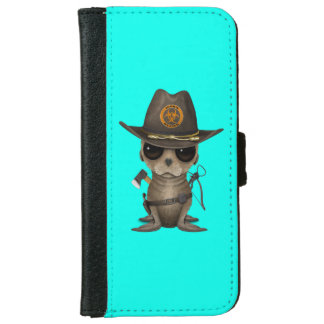 Baby Sea lion Zombie Hunter iPhone 6 Wallet Case