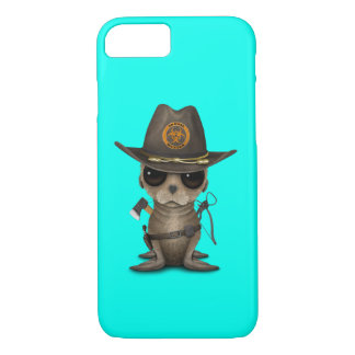 Baby Sea lion Zombie Hunter iPhone 8/7 Case
