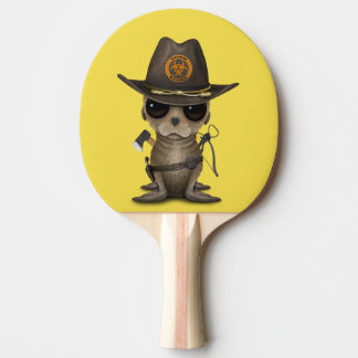 Baby Sea lion Zombie Hunter Ping Pong Paddle