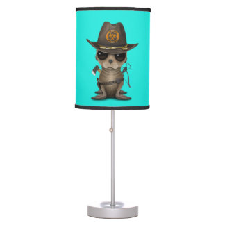 Baby Sea lion Zombie Hunter Table Lamp