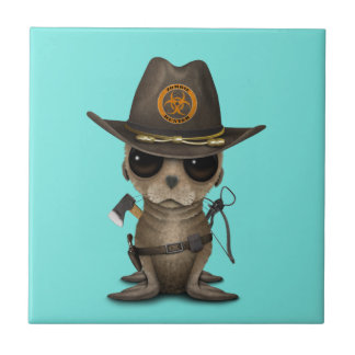 Baby Sea lion Zombie Hunter Tile