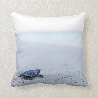 baby sea turtle throw pillow