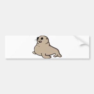 Baby seal bumper sticker