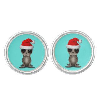 Baby Seal Wearing a Santa Hat Cufflinks