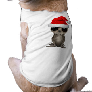 Baby Seal Wearing a Santa Hat Shirt