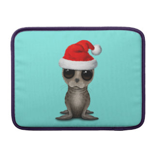 Baby Seal Wearing a Santa Hat Sleeve For MacBook Air