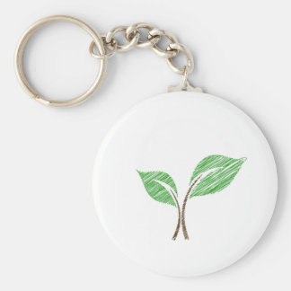 Baby seedling sketched keychain
