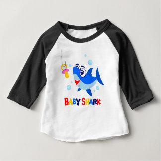 Baby Shark  3/4 Sleeve Raglan T-Shirt
