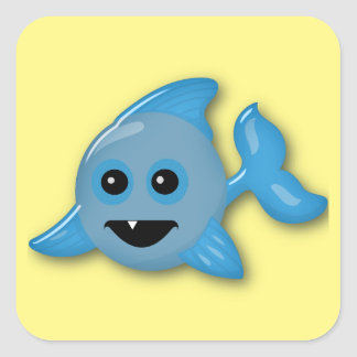 Baby Shark Square Sticker